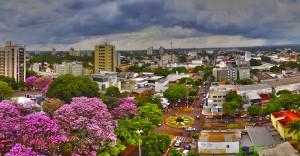 Vista da Avenida Weimar Gonçalves Torres em HDR, Dourados-MS